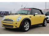2005 Liquid Yellow Mini Cooper Convertible #76434213