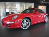 2008 Guards Red Porsche 911 Carrera 4 Coupe #76456773