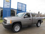 2013 Graystone Metallic Chevrolet Silverado 1500 Work Truck Regular Cab 4x4 #76499436