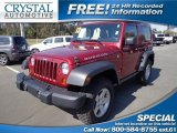 2012 Deep Cherry Red Crystal Pearl Jeep Wrangler Rubicon 4X4 #76499846