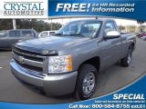 2008 Graystone Metallic Chevrolet Silverado 1500 LS Regular Cab #76499844