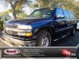 2002 Indigo Blue Metallic Chevrolet Silverado 1500 LS Extended Cab 4x4 #76499253