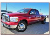 2007 Inferno Red Crystal Pearl Dodge Ram 3500 Lone Star Quad Cab Dually #76499663