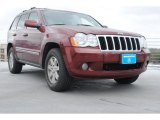 2008 Red Rock Crystal Pearl Jeep Grand Cherokee Limited 4x4 #76500058