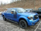 Blue Flame Metallic Ford F150 in 2013
