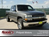 2002 Medium Charcoal Gray Metallic Chevrolet Silverado 1500 Extended Cab 4x4 #76499630