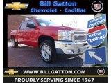 2013 Victory Red Chevrolet Silverado 1500 LT Crew Cab 4x4 #76500019