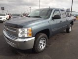 2013 Blue Granite Metallic Chevrolet Silverado 1500 LS Crew Cab #76499750