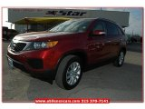 2011 Spicy Red Kia Sorento LX V6 #76499741