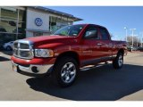 2005 Flame Red Dodge Ram 1500 SLT Quad Cab 4x4 #76564918