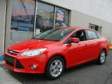 2012 Race Red Ford Focus SEL Sedan #76565238