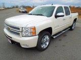 2013 White Diamond Tricoat Chevrolet Silverado 1500 LTZ Crew Cab 4x4 #76565123
