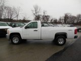 2013 Summit White Chevrolet Silverado 1500 LS Regular Cab 4x4 #76565327