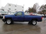2013 Blue Topaz Metallic Chevrolet Silverado 1500 Work Truck Regular Cab #76565325