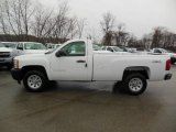 2013 Summit White Chevrolet Silverado 1500 Work Truck Regular Cab 4x4 #76565321