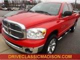 2007 Flame Red Dodge Ram 1500 Big Horn Edition Quad Cab 4x4 #76565096