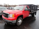2013 Fire Red GMC Sierra 3500HD Regular Cab Stake Truck #76565091