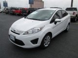 2013 Oxford White Ford Fiesta S Sedan #76564640