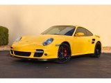 2007 Porsche 911 Turbo Coupe Front 3/4 View
