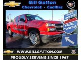 2007 Victory Red Chevrolet Silverado 1500 Classic Z71 Extended Cab 4x4 #76624690