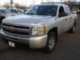 2010 Sheer Silver Metallic Chevrolet Silverado 1500 LS Crew Cab 4x4 #76624054