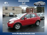 2007 Bright Red Suzuki SX4 Convenience AWD #76624192