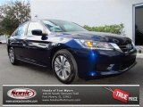 2013 Obsidian Blue Pearl Honda Accord LX Sedan #76624078