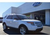 2013 White Platinum Tri-Coat Ford Explorer XLT #76682008