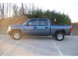 2007 Blue Granite Metallic Chevrolet Silverado 1500 Crew Cab #76682451