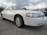 Vibrant White Lincoln Town Car in 2003