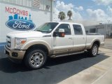 2012 White Platinum Metallic Tri-Coat Ford F250 Super Duty King Ranch Crew Cab 4x4 #76681837