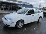 2005 Cloud 9 White Ford Focus ZX4 SE Sedan #76682413