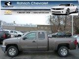 2013 Mocha Steel Metallic Chevrolet Silverado 1500 LT Extended Cab 4x4 #76682397