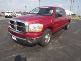 2006 Inferno Red Crystal Pearl Dodge Ram 1500 SLT Mega Cab #76682158