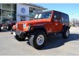2006 Impact Orange Jeep Wrangler Unlimited Rubicon 4x4 #76740523