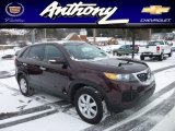 2012 Dark Cherry Kia Sorento LX AWD #76740688