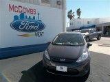 2013 Violet Gray Ford Fiesta S Sedan #76740402