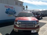 2013 Ruby Red Metallic Ford F150 Lariat SuperCrew #76740399