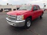 2012 Victory Red Chevrolet Silverado 1500 LS Crew Cab 4x4 #76768021