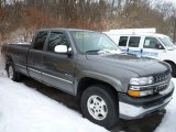 2001 Medium Charcoal Gray Metallic Chevrolet Silverado 1500 LS Extended Cab 4x4 #76773591