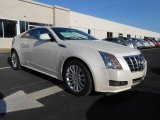 White Diamond Tricoat Cadillac CTS in 2013