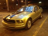 2005 Legend Lime Metallic Ford Mustang V6 Deluxe Coupe #76773913