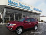 2011 Spicy Red Kia Sorento EX #76773642