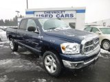 2007 Patriot Blue Pearl Dodge Ram 1500 Big Horn Edition Quad Cab 4x4 #76773889