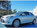 2012 Ingot Silver Metallic Ford Focus Titanium 5-Door #76803999