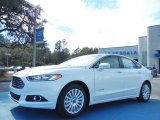 2013 White Platinum Metallic Tri-coat Ford Fusion Hybrid SE #76803995