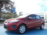 2013 Ruby Red Ford Fiesta SE Sedan #76803990
