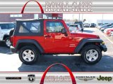 2011 Flame Red Jeep Wrangler Sport S 4x4 #76803858