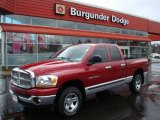 2006 Inferno Red Crystal Pearl Dodge Ram 1500 SLT Quad Cab 4x4 #7661218