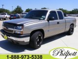 2003 Light Pewter Metallic Chevrolet Silverado 1500 LS Extended Cab #7662059
